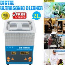 2L Digital Lavatrice Pulitore Ad Ultrasuoni Pulizia Pulitrice Inossidabile NUOVO