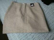 New Marks & Spencer Ladies Short Winter Lined Skirt Colour Stone Mix size 12 Reg