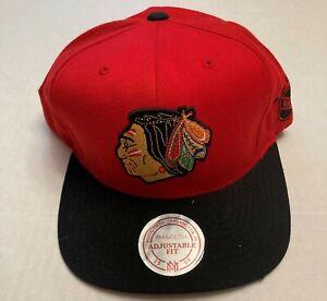Chicago Blackhawks Mitchell & Ness NHL Hat Adjustable Fit