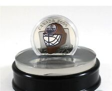 2009 Canada Sterling Silver Coin - NHL Edmonton Oilers Goalie Mask - NO TAX