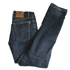 Draggin Jeans Pants Mens Blue Kevlar Motorcycle Riding Lined Size W34