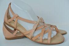 NEW Lucky Brand Dawnna Womens Sz 9 M Nude Leather Strappy Gladiator Sandals
