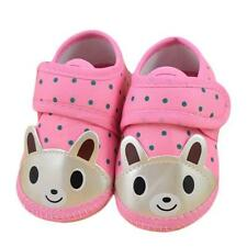 Newborn Girl Boy Soft Sole Crib Toddler Shoes Canvas Cloth Sneaker Pink