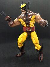 "Wolverine Custom 12"" Marvel Legends Action Figure E0493 Brown 80's Costume"