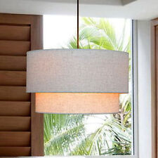 Fabric Drum Shade Ceiling Light Fixture Chandelier Pendant Lamp New Contemporary