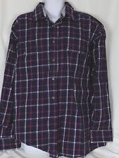 Wrangler George Strait Western Shirt Button Front XXL/XXG Purple Plaid NEW
