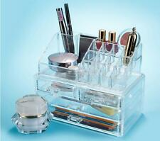 Acrylic Cosmetic Organiser Jewellery Display Makeup Drawer Holder Crystal Clear