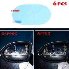 6pcs Oval Car Anti Fog Anti-glare Rainproof Rearview Mirror Trim Film Cover