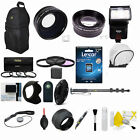 Canon Rebel T5  EOS 1200D LENS FILTER FLASH 32GB PROFESSIONAL ACCESSORY KIT