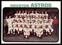 1973 TOPPS ASTROS TEAM CARD #158 NM HI-GRADE SET BREAK BLR4N1