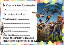 5 cartes invitation anniversaire  FORTNITE 03