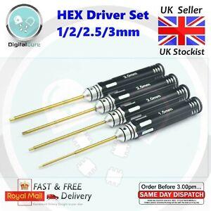 4pcs HEX Screw Driver Set Hardened 1.5 2.0 2.5 3.0mm RC Allen