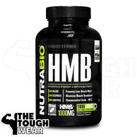 NUTRABIO - HMB 1000mg 180caps - Promotes Lean Muscle Mass & Protein Synthesis