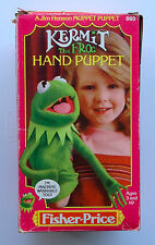 SET OF 2 KERMIT & FOZZIE BEAR Muppet Show Fisher Price Puppets MIB Vintage 1978