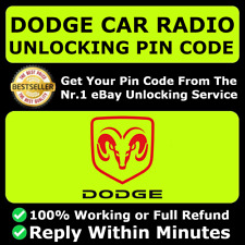 DODGE RADIO PIN CODE UNLOCK DECODE CHARGER CHALLENGER DURANGO CARAVAN JOURNEY