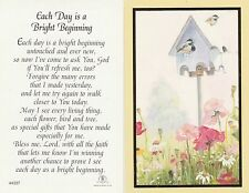 CATHOLIC HOLY CARD   EACH DAY IS A BRIGHT BEGINNING
