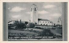 BOISE ID – Oregon Short Line Railroad Depot, Howard Platt Gardens O.S.L.