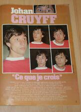 football poster Johan Cruyff Ajax Barcelona NY Cosmos Feyenoord Netherlands 1983