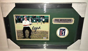 PSA/DNA British Open Champion PHIL MICKELSON Signed Autographed FRAMED Photo