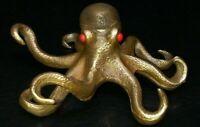 Chinese copper Handmade Exquisite octopus Statue