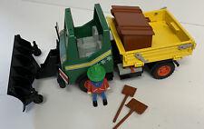 Vintage Playmobil 3695 Snowplough 1986 , Figures And Accessories