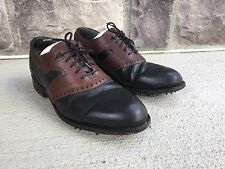 Greg Norman  Brown & Black Leather Golf Shoes Made in Ireland Men's 9 D