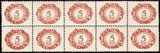 Scott # J1 - 1920 - ' Numeral '; Postage Due - Block of 10