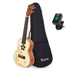 Kmise Concert Ukulele Hawaii Guitar Spruce Mahogany 18 Fret W/Bag Tuner 23 Inch