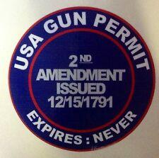 2nd AMENDMENT STICKER DECAL GUN PERMIT