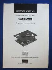 Sansui R-5000CD C.D.M.-2  Service Repair Manual Factory Original The Real Thing
