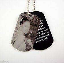 2 Photo Dog Tag Custom Engraved Your Picture Memorial Giftbox Necklace Gift Box
