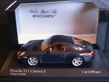 PORSCHE 911 CARRERA S 2004 ATLASGRAU METALLIC MINICHAMPS 400063021 1/43 BLUE