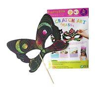 New Kids Scratch Art Masks for Girls (Pack of 5), au seller