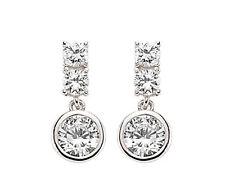 LISCIO SET zircone cubico Goccia Orecchini pendenti in argento sterling