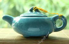 170ml Sky Blue Calvings Ice Break Veins Pattern Crystalline Glaze Celadon Teapot