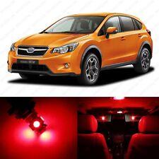 6 x Brilliant Red LED Interior Lights Package For 2013 & Up Subaru XV Crosstrek