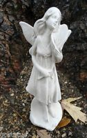 Latex only delicate garden fairy with flower mold plaster concrete mould