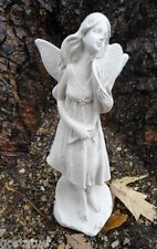 latex only delicate garden fairy with flower mold  plaster cement mould