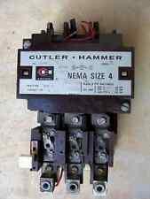 Cutler Hammer Size 4 Starter A10FNO 120 Volt Coil