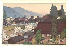 Yoshida Toshi - #015108 Village of Plums - Japanese Woodblock Print