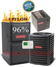 2 Ton Goodman 13 seer 95/96% 60K BTU Gas Furnace UPFLOW System GMES960603BN