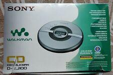 SONY WALKMAN  CD D-EJ100 DISCMAN PORTABLE CD PLAYER