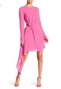 BARDOT Women's Size 6 Stilla Asymmetrical Dress Pink NWT $119.99