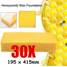 30PCS Beekeeping Honeycomb Foundation Wax Honey Hive Equipment Tool Supplies