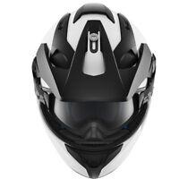 SHARK EXPLORE-R DUAL SPEC GLOSS WHITE ADVENTURE TOURING MOTORCYCLE HELMET