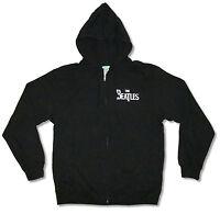 Beatles Number Ones Black Zip Hoodie Sweatshirt New Official Adult