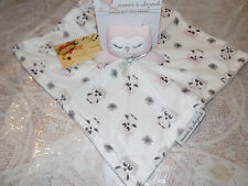 SECURITY BLANKET BEYOND OWL PINK WHITE GRAY SLEEPY EYES VELOUR NO RATTLE SOFT