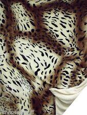 "New LEOPARD PRINT Queen Soft Luxury Flannel Sherpa Bed Spread Blanket 79"" x 95"""