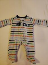 "Boys Carters Newborn ""Little Brother"" Footed One Piece"