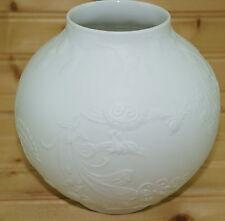 "KAISER White Bisque Porcelain Vase Birds Flowers Dragonfly-5 1/2""- #469 Vintage"